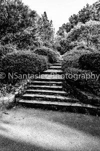 The stone staircase.
